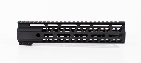 10 inch m-lok lightweight handguard rail with attachment points 3 sides