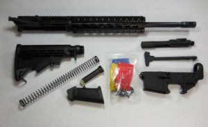 "16 inch rifle kit 10"" Quad Rail with upper assembled with 80 percent lower receiver"