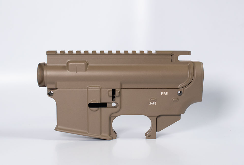 80 lower receiver and completely machined upper Set Cerakote Flat Dark Earth