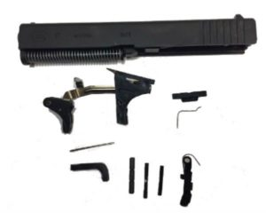 Glock 17 compatible frame with complete G17 parts kit