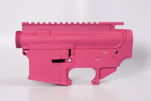 80 lower receiver and completely machined upper Set Cerakote Pink