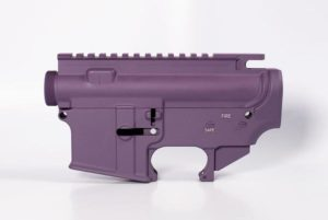 80 lower receiver and completely machined upper Cerakote Purple Set