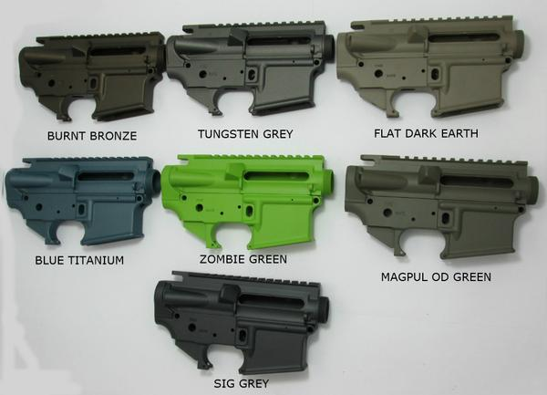 ar15 available colors for lower and upper