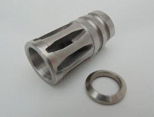 stainless steel flash hider with stainless crush washer