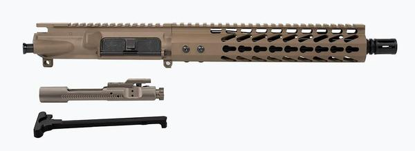 "10.5"" AR-15 Flat Dark Earth Upper with 10"" Keymod rail and nickel boron bolt carrier group"