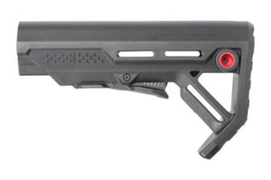 strike industries Viper black mod-1 carbine stock mil-spec black/red