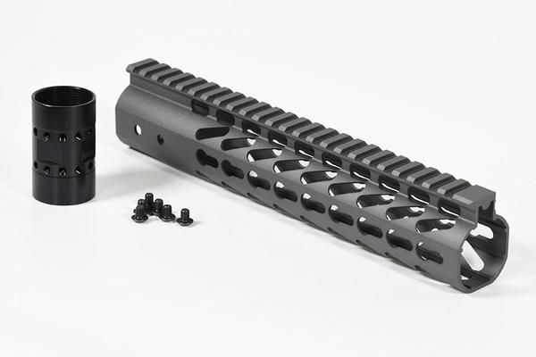 10 inch Slim Keymod free float handguard Rail for the AR-15 rifle