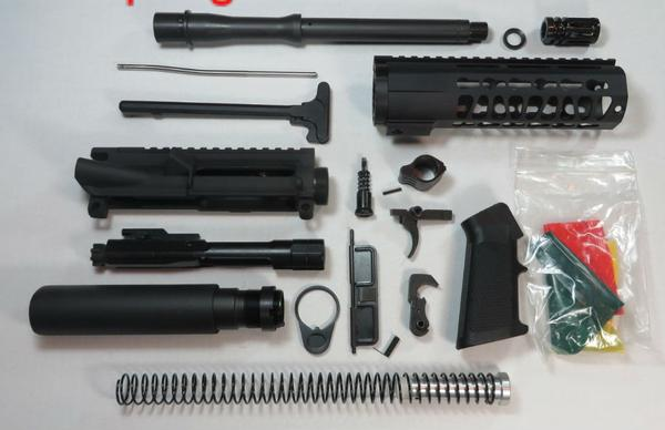 "10.5"" 300 AAC Blackout Pistol Kit 7"" Keymod Rail unassembled NO Lower"