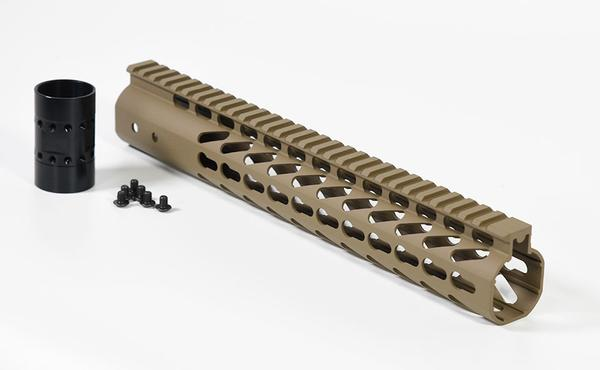 12 inch AR-15 Super Slim Keymod free float handguard in Flat Dark Earth