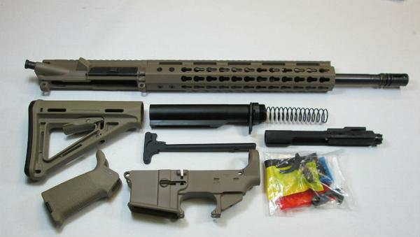 300 Blackout Flat Dark Earth FDE Rifle kit with magpul Furniture