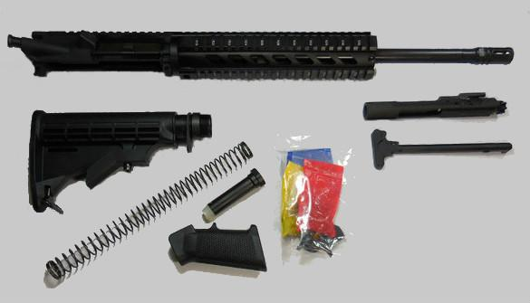 7.62x39 ar style rifle kit with 10 inch quadrail