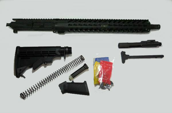 AR 15 Rifle Kit with 15 Inch Keymod Rail No Lower