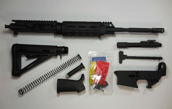 16 inch Rifle Kit with Magpul Moe with 80 percent lower