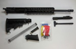 "16 inch rifle kit 10"" Quad Rail with upper assembled without 80 percent lower receiver"