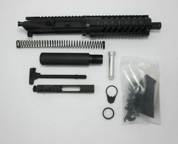 "300 blackout pistol kit with 7"" quad rail handguard and 1x8 twist barrel with a2 flash hider"