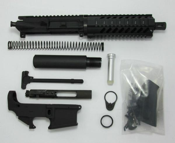 300 7.5 inch blackout pistol kit upper assembled with 80 percent lower