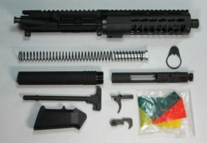 "7.5"" 300 blackout pistol kit with 7 inch keymod rail"