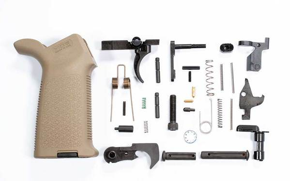 DPMS AR-10 308 Lower Parts Kit with Magpul Moe Grip Flat Dark Earth