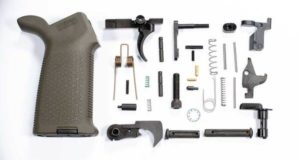 DPMS AR-10 308 DPMS Lower Parts Kit with Magpul Moe Grip od green