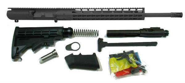"308 20"" Barrel complete rifle kit black"