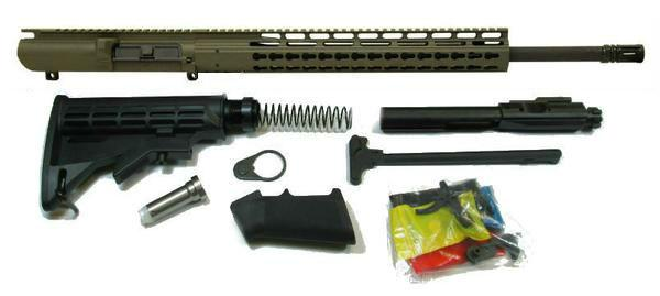 308 complete rifle kit od green