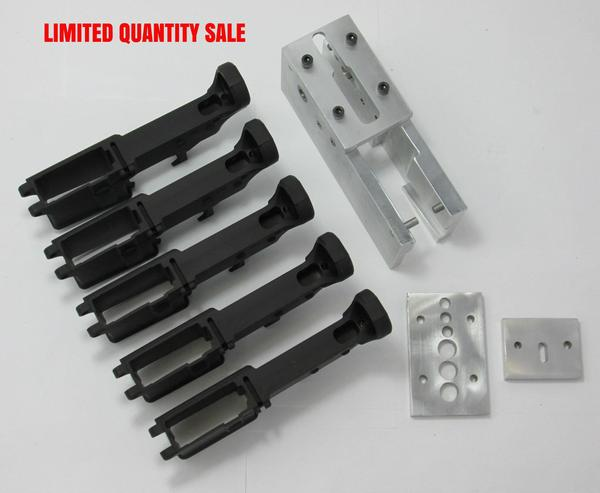 5 AR-15 anodized lowers and jig Sale