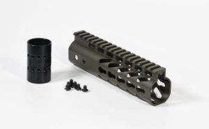 "AR-15 7"" light weight free float keymod handguard od green"