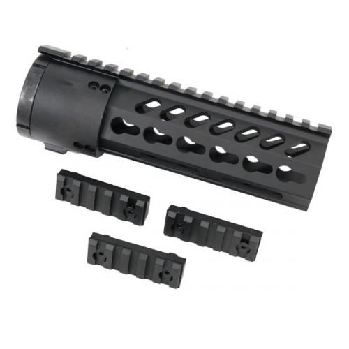 7_inch_Thin_Profile_Free_Floating_KeyMod_Handguard_With_Removable_Rails