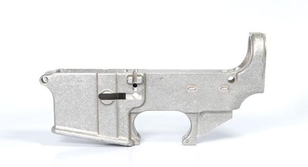 Raw 80% lower receiver less safe and fire markings