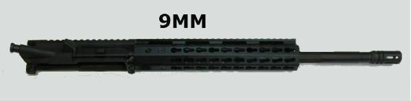 "9mm ar-15 upper 16"" for 9mm Rifle"