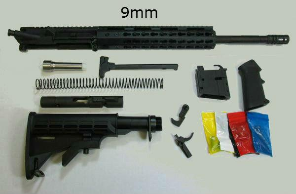 9mm AR-15 rifle kit 16 inch barrel