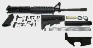A2 16 inch AR-15 kit with 80 percent lower