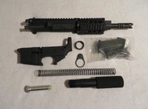 complete black pistol kit with 80% lower