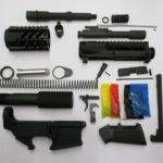 Complete AR-15 pistol kit with 80 percent lower (Not assembled)