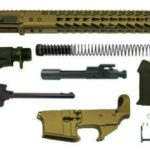 "burnt bronze 16"" Ar 15 Rifle Kit with 12"" Slim Keymod with Lower"