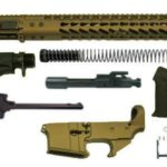"burnt bronze 16"" Ar15 Rifle Kit with 15"" Slim Keymod with Lower"
