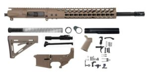 16 inch Flat Dark Earth FDE Rifle kit with magpul FDE Furniture with lower