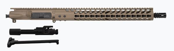 "Flat Dark Earth 16"" upper with FDE coated 15"" keymod rail including BCG"