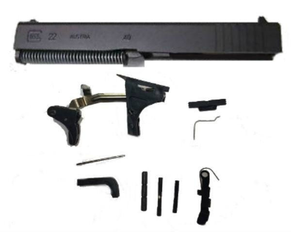 Glock 22 Compatible Polymer80  40 Caliber 80% Pistol Frame Kit with  Complete Parts Kit