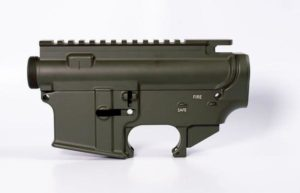 80 lower receiver and completely machined upper Set Cerakote OD Green