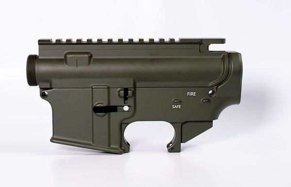 AR15 80% Lower and Complete Stripped Upper Cerakote Olive Drab OD Green Set