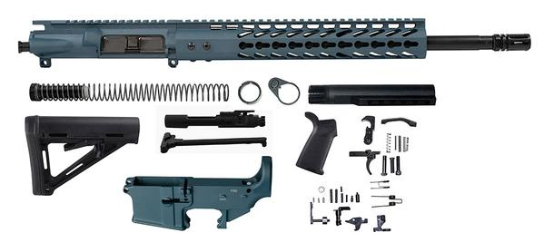 "Titanium Blue 16"" Ar 15 Kit with 12"" Slim Keymod with Lower"