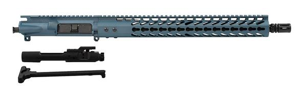 "Titanium Blue 16"" upper 15"" keymod rail including BCG"