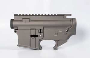 80 lower receiver and completely machined upper Set Cerakote tungsten grey