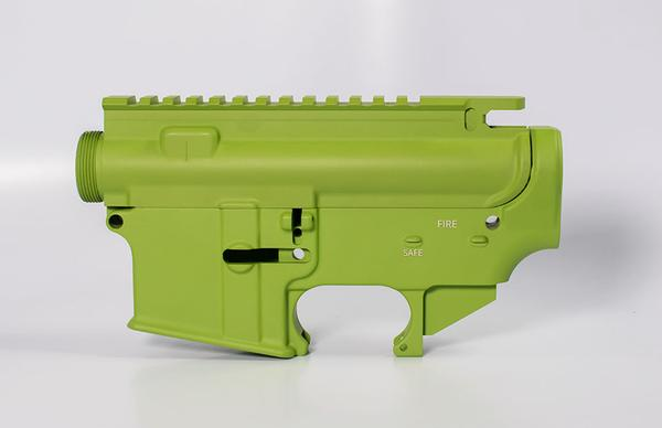 80 lower receiver and completely machined upper Set Cerakote zombie green