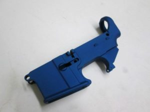 80 percent Lower receiver blue to build your custom AR15 Rifle
