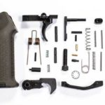 AR-15 Lower Parts Kit od green Magpul Moe Grip and moe trigger guard