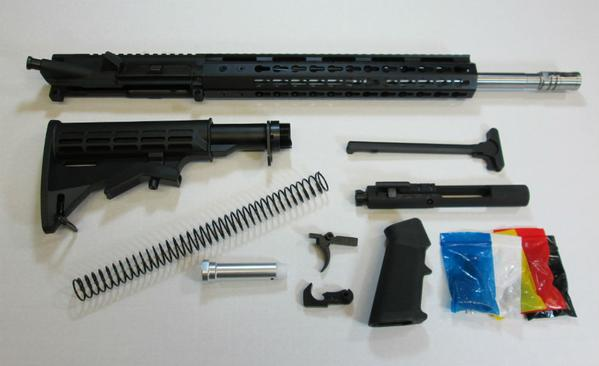 "ar15 stainless Steel barrel complete rifle kit with 12"" keymod"