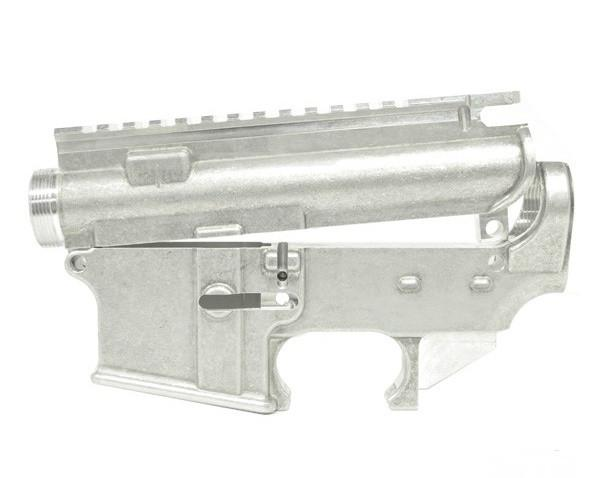 ar 15 80 percent lower and stripped upper set mill finish