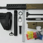 300 10.5 inch blackout pistol kit with Sig Brace. assembled with 80% lower